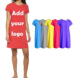 الصين الملابس بالجملة السعر طويل القميص اللباس الشركة المصنعة المرأة طويلة ثوب قميص فارغ