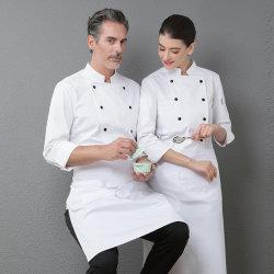 Unisex uomo Professional Restaurant Top Long Sleeve cucina da lavoro cucina Giacca tute da cucina da cameriere abiti da chef uniforme