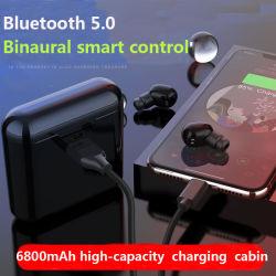 Viqee OEM Bluetoothは電話ブラケットのためのイヤホーンのインテリジェント制御のBluetoothの無線イヤホーンの無線Bluetoothの1つのヘッドセットに付き力バンク2つを結び付ける