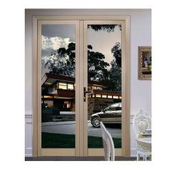 Matériaux de construction non standard Modern Maison française Bi pliage en aluminium Le verre trempé les portes et fenêtres de l'intérieur Bi pli Patio coulissante de porte d'entrée Guangzhou