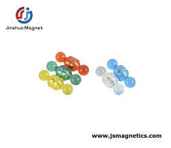 美しいプラスチックオフィスの磁石のNdFeBの磁石押しはABSによって塗られる磁石ボタンをピンで止める