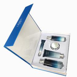 Kundenspezifische Buch-Form-kosmetischer Papierkasten, der für Haut-Sorgfalt-Produkt-Verpackung verpackt