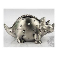 OEM 공장 백랍 스마트 머니 상자 Triceratops 백랍 돈 상자