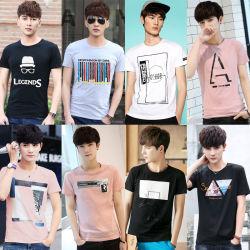 Les hommes de l'été Short Sleeve Mix de chiffons de style vêtement T-Shirt626-1 Stock (FF)