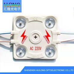 AC220/110V LED モジュール、レンズ 3030 チップ、 4 LED 、電源なし アクリルチャネルレター 6 ~ 25cm に適用されます