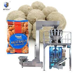 Novo Produto multifuncional de Bolsa de alimentos congelados Vertical máquina de embalagem de Almôndegas de peixe/Gyoza/embalagem bolas de carne de bovino