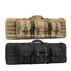 العسكرية نمط الخدمة الشاقة 600D في الهواء الطلق الصيد مخزن مزدوجة يضاف حقيبة البندقية البندقية البندقية البندقية حقيبة عسكرية تاكتيكية البندقية