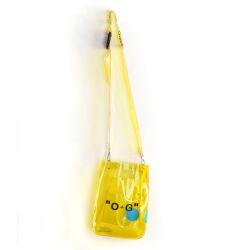 Unisexe imperméable à la mode des sacs à main en PVC jaune Crossbody Bag Sac en bandoulière