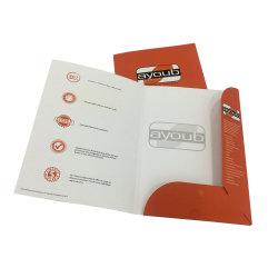 Impressão personalizada Pasta de arquivos de papel A4 com bolsos