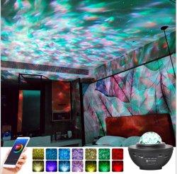 نجوم ضوء السماء USB بلوتوث موسيقى في جو من النوم ضوء ليلي ضوء إسقاط ليزر LED