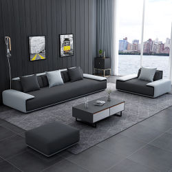 Villa Marco De Madera Muebles de salón sofá en forma de L