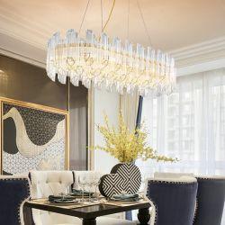 Modern Decoratief Huis die de Binnenlandse Lamp van de Tegenhanger van de Glans van de Kroonluchter van het Restaurant van de Woonkamer van het Glas van het Metaal aansteken