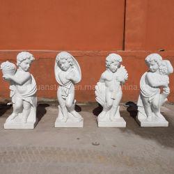 Западном стиле мальчик детей мраморные скульптуры из камня малыша Карвинг