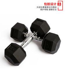 Sportartikel Gewichtheben Kraft Training Sport Commercial Home Gym Fitnessgeräte Hanteln Gummi Hex Hanteln Set