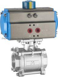 Пневматический клапан из нержавеющей стали 2PC 3PC 3-пневматического шарового клапана