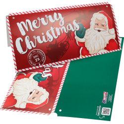크리스마스 특별 광고 인쇄된 판지 다채로운 종이 포장 헤더 카드