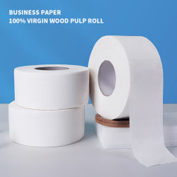 3-lagiges riesiges Rollentoiletten-Seidenpapier-Haushalts-Papier-Papiermassen-Haushalts-Toilettenpapier-Hotel-Papier