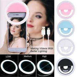 Tragbarer Selfie LED-Lichtring Fill Kamerablitz für mobile Geräte Telefon Universal iPad