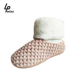 Groothandel Imitation Rabbit Fur Girl Antiskid warme Indoor Slippers en Laarzen