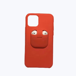 2 in 1 Silikon-Kopfhörer-Telefon für iPhone 11 maximalen Profall mit für Airpod Halter