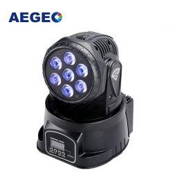 7X10W LED RGBW laver la tête mobile Mini stade LED lumière
