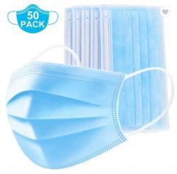 No tejido de 3 capas de máscara la máscara de los productos médicos de hospital