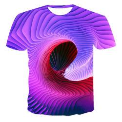 Comercio al por mayor ropa de diseñadores. Colono Dydroterapy Verano. Diseño tridimensional en espiral/hombres Camisetas / 3 d la impresión por sublimación de la impresión de transferencia de calor/