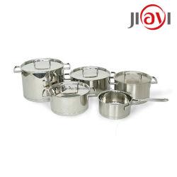 5pcs Günstige Küche Housewares Edelstahl Antihaft Küchentöpfe Kochgeschirr-Sets