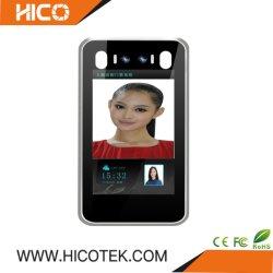 Hicotek 8 inch Access Control IC ID-kaartlezer, binoculair IP-camera van het paneel voor gezichtsherkenning