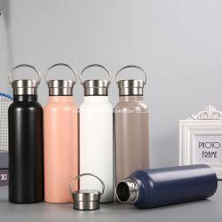 Aço inoxidável balão de vácuo sem BPA térmica de café com o manípulo grande capacidade para trabalhar no exterior viagem mantém o líquido quente ou frio garrafas de bebidas