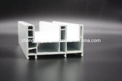 Solide blanc OEM UPVC écran coulissant en plastique des cadres de fenêtre Profil Conception ignifugé WPC PVC composite de bois du châssis de porte
