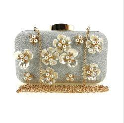 حقيبة جديدة مصنوعة يدويا ذات ثلاثة أبعاد للزهور اللباس لانتينج المسائية للنساء