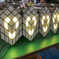Licht van de Achtergrond van de Balzaal van de Club van de Nacht van de Partij van het Huwelijk van de LEIDENE 3D Magische Muur van de Kubus Warme