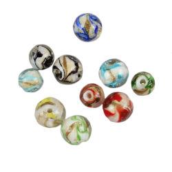 Ronda de Seda Hand-Twisted Glacê colorido cordões Sands Glacê colorido cordões soltos jóias de bricolage bracelete perfuradas de acessórios de material de colar