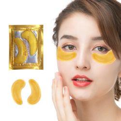 Gel bajo el ojo de cristal de la hoja de oro 24K de la máscara de colágeno de hidrogel círculo oscuro parche ocular
