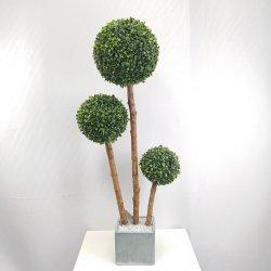 실내 및 실외 장식 인공 녹색 토피어리 박스우드 볼 나무 나무 트렁크