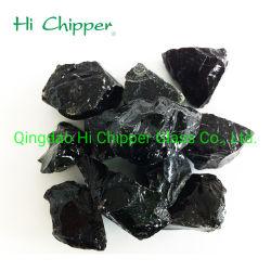 Hight noir de qualité en verre d'incendie Rocks for Fire Pit décoration