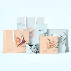 손잡이 빨 수 있는 음식 Kraft 종이 봉지 중국 도매 싼 제조자 주문 로고 인쇄 사치품 옷 단화 보석은 쇼핑 선물 포장 종이 봉지를 전송한다