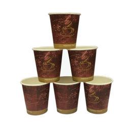 シングルウォールスタイルの使い捨てペーパーカップ 7 オンスコーヒードリンクカップ