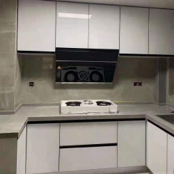 Color blanco moderno kitchen cabinet