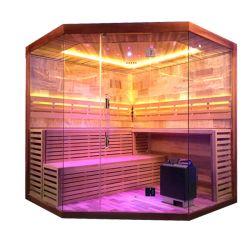 De nieuwe Dubbele Zaal van de Sauna van de Stoom Infared van de Zaal Droge met de Deur van het Glas voor Verkoop