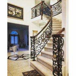 Prefabricados directamente de fábrica de metal decorativos interiores Baranda escalera de hierro forjado.