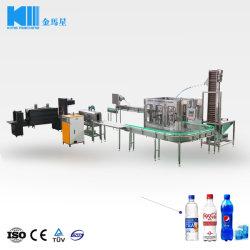 La CDS totalmente automática de llenado de agua bebida carbonatada que hace la máquina Línea de producción con el CO2 de Chiller Mezclador caliente túnel