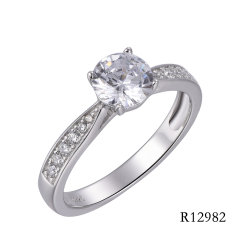 Hot Sale 925 Sterling Silver bague de fiançailles
