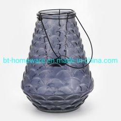Portacandela europeo vetro cristallo Lanterna da cerimonia in metallo con decorazione Portatile