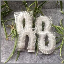Desechables de plástico de HDPE Strip-Shaped clara gorro de ducha paquete vacío disponible