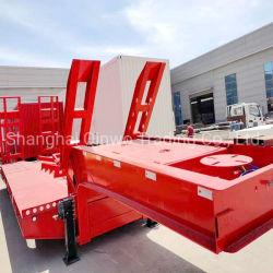60т 80тонном экскаваторе транспорта на изогнутой стойке Lowboy низкая кровать Lowbed Полуприцепе погрузчика