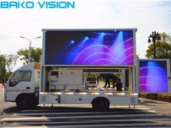 Прочного знак для презентации P10 для мобильных ПК погрузчик рекламы дисплей двухсторонний светодиодный экран