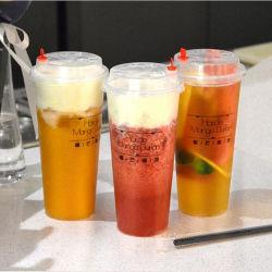 No Verão de plástico de 0 Grau de gelo Cool Water xícara de café, sumo de fruta Smoothie beber bebidas garrafa gelada canecas de plástico com tampas
