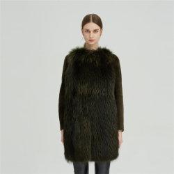 متوسط الطول شتاء فاخر فاشون Fur واحد 100 ٪ كوول كوات اللباس